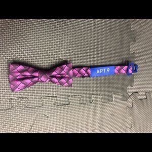 NWT 🔥BOW TIE SET purple black